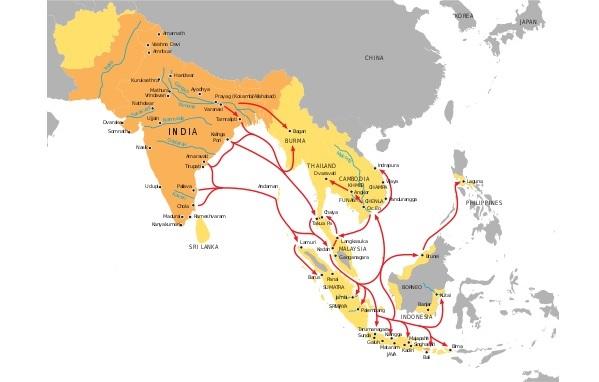 Исторические территории влияния Индии
